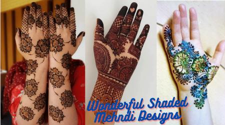 Wonderful Shaded Mehndi Designs