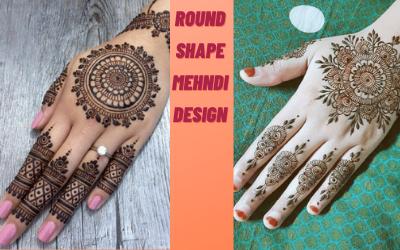 30+ Round shape mehndi design