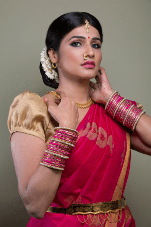 a hot desi girl stripping in saree on webcam